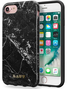 LAUT Huex iPhone 7 hoesje Marble Black