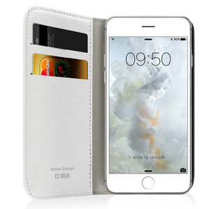 SBS Mobile Bookstyle iPhone 7 hoesje White