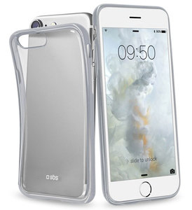 SBS Mobile Slim Edge iPhone 7 hoesje Silver