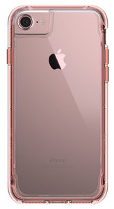 Griffin Survivor Clear iPhone 7 hoesje Rose Gold