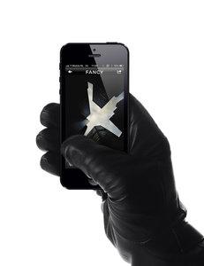 Mujjo Leather Touchscreen Gloves Black Medium