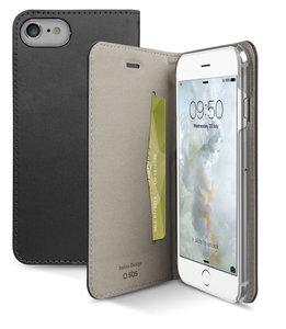 SBS Mobile Metallic Book iPhone 7 hoesje Black