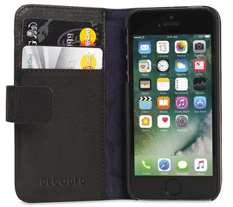 Decoded Leather Book Wallet iPhone SE/5S hoesje Black