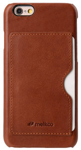 57b2374ef66 Melkco Leather Backcover iPhone 6/6S Plus Bruin - Appelhoes