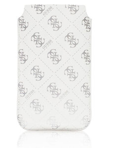 GUESS Pouch iPhone 4/4S Shiny White