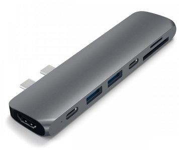 Satechi Pro USB-C Thuderbolt hub Space Grijs