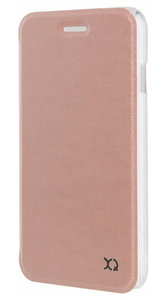 Xqisit Flap Adour iPhone SE 2020 / 8 /7 hoesje Rose Goud