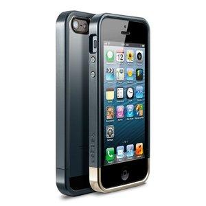 Spigen SGP Linear Metal Crystal iPhone 5 bumper Slate