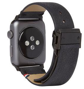 Decoded Leather Watch strap 42 mm Zwart