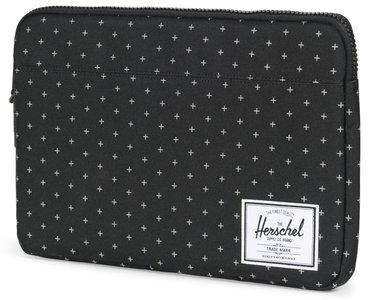 Herschel Supply Anchor 13 inch sleeve Gridlock Zwart
