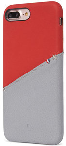 Decoded Leather Backcover iPhone 8/7 Plus hoes Rood