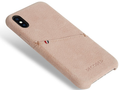 save off 8c5c3 a618b Decoded Leather Backcover iPhone X hoesje Naturel