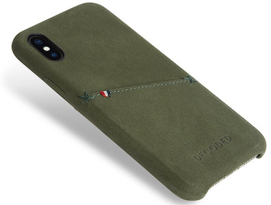 Decoded Leather Backcover iPhone X hoesje Groen