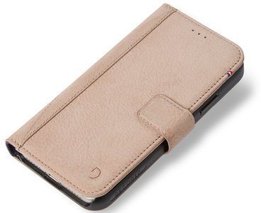 low priced 06781 1ebed Decoded Leather Wallet iPhone X hoesje Naturel