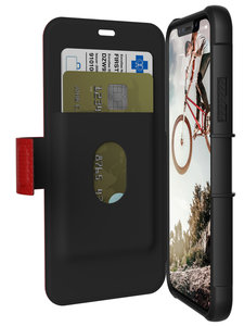hot sale online eeb8f 2ced6 UAG Metropolis iPhone X Wallet hoesje Rood