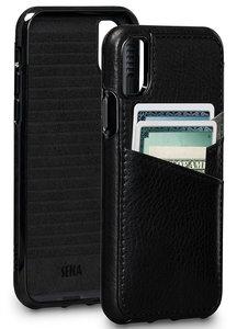 Sena Bence Lugano iPhone X Wallet hoesje Zwart