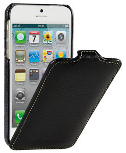 Melkco Leather Jacka Flip iPhone SE/5S hoesje Zwart