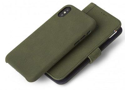 Decoded Leather 2 in 1 Wallet iPhone X hoesje Groen