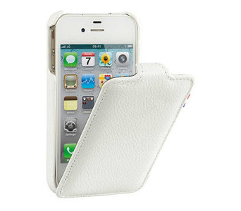 Decoded Leather Flip Case iPhone 4/4S White