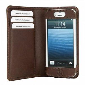 Bugatti Smart Bookcase wallet iPhone 5/5S Brown