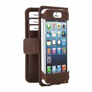 Bugatti Open Bookcase wallet iPhone 5/5S Brown