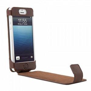 Bugatti Leather Flipcase iPhone 5/5S Brown