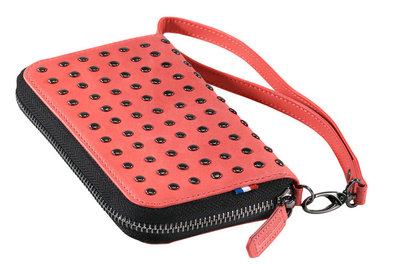 Decoded Leather Studs Wallet Pink