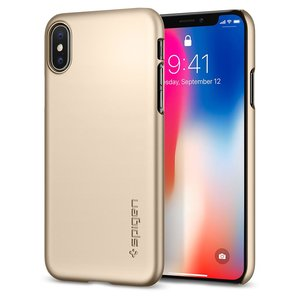 Spigen Thin Fit iPhone X hoesje Goud