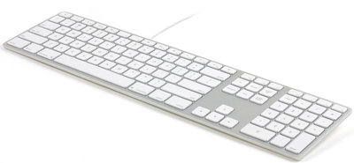 Matias Wired Backlit Keyboard Qwerty US toetsenbord Zilver