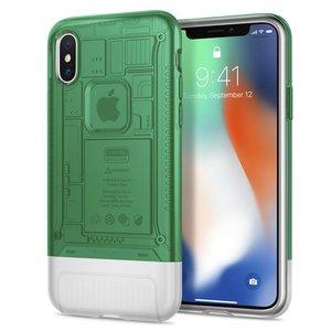 Spigen Classic C1 iPhone X hoesje Sage Groen
