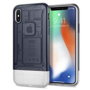 Spigen Classic C1 iPhone X hoesje Grijs