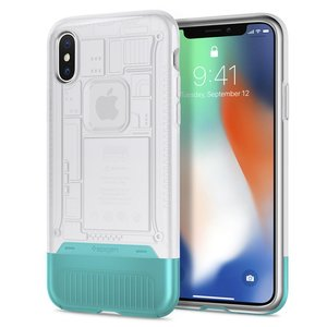 Spigen Classic C1 iPhone X hoesje Snow Wit