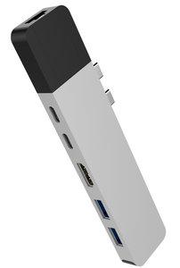 HyperDrive Net USB-C hub met Ethernet Zilver