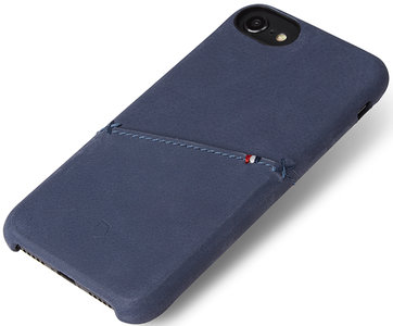 Decoded Leather Backcover iPhone 8/7 hoesje Blauw