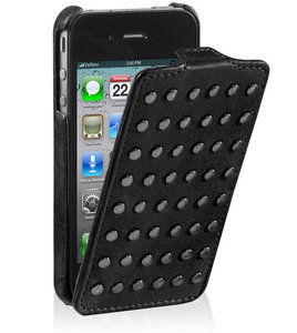 Decoded Leather Flip Studs Case iPhone 4/4S Black
