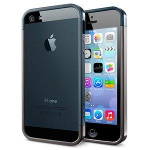 Spigen SGP Linear EX Metal iPhone 5 bumper Gunmetal