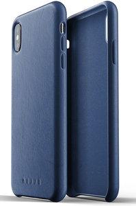 Mujjo Leather iPhone XS Max hoesje Blauw