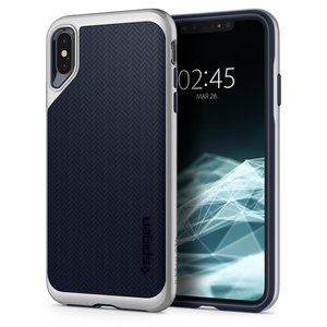 Spigen Neo Hybrid iPhone XS Max hoesje Zilver