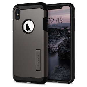 Spigen Tough Armor iPhone XS Max hoesje Grijs