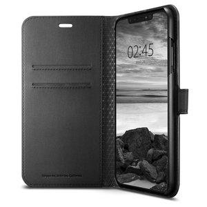 Spigen Wallet iPhone XS Max hoesje Zwart