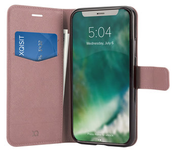 Xqisit Viskan Wallet iPhone XS Max hoesje Rose