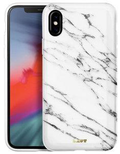LAUT Huex Marble iPhone Xs Max hoesje Wit