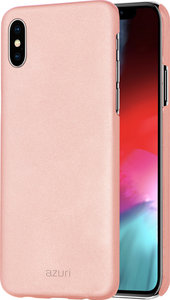 Azuri Metallic iPhone XS Max hoesje Roze