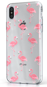 BeHello Gel iPhone Xs Max hoesje Flamingo