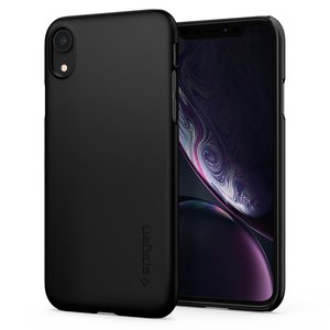 Spigen Thin Fit iPhone Xr hoesje Zwart