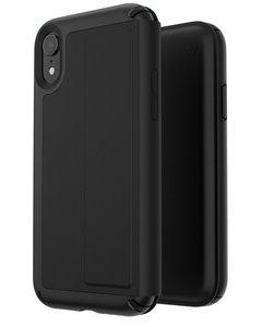 Speck Presidio Leather Folio iPhone XR hoesje Zwart