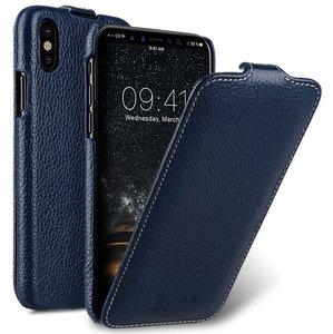 Melkco Leather Jacka iPhone XS Max hoesje Blauw