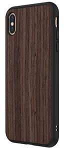 RhinoShield SolidSuit Wood iPhone XS Max hoesje Walnoot Zwart