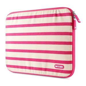 Incase Striped Canvas sleeve 13 inch Pop Pink