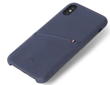 Decoded Leather Backcover iPhone X / XS hoesje Blauw